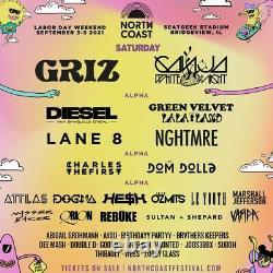North Coast Music Festival 3 day VIP tickets
