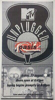 Oasis Original Rare Concert Ticket MTV Unplugged Royal Festival Hall London 1996