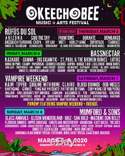 Okeechobee Music And Arts Festival General Admission Wristband Ticket