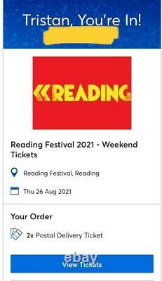 One Reading Festival 2021 Weekend Ticket