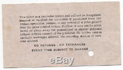 Original'82 Grateful Dead The Clash Jamaica World Music Festival Concert Ticket