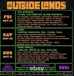 Outside Lands Music Festival 3-Day GA 2021 2 Tickets/Wristbands