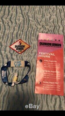 Outside Lands Music Festival 3 Day VIP Pass Wristband Unregistered