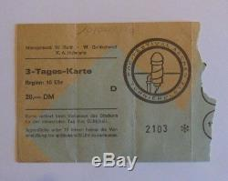 PINK FLOYD DEEP PURPLE MIKE OLDFIELD TICKET AACHEN 1970 Open Air Festival