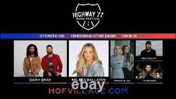 Pair Of Highway 77 Music Festival Tickets Sec. 126 Front Row! Dan+Shay