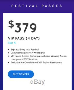 Pair of 4 Day VIP Tickets (wristbands) to the Imagine Music Festival in Atlanta