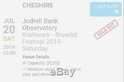 Pair tickets for Kraftwerk, Bluedot Festival, Saturday July 20th 2019