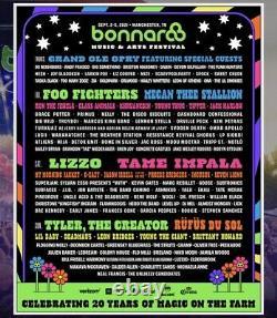 Primitive RV Camping Pass Ticket Bonnaroo Music & Arts Festival 2021 Thursday