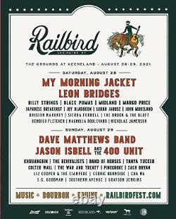 Railbird Music Festival 2 Tickets August 28 & 29