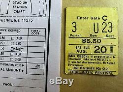 Rare 1966 Music Festival Forest Hills Ticket Stub & Flyer Supremes Temps Wonder