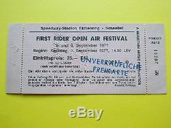 ^°^ Rare! Entrance Ticket First Rider Open Air Festival 1977 Abbruch Stage
