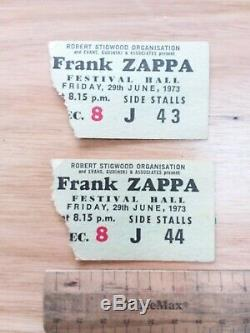 Rare Vintage frank zappa festival hall 1973 ticket stubs