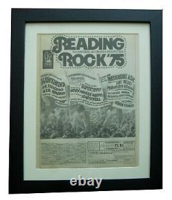 Reading Festival+1975+rock+poster+ad+framed+original+express Global Ship+tickets
