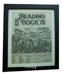 Reading Festival+1975+rock+poster+ad+framed+original+express+global Ship+tickets