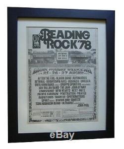 Reading Festival+1978+rock+poster+ad+framed+original+express Global Ship+tickets