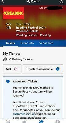 Reading Festival Weekend Ticket 2021