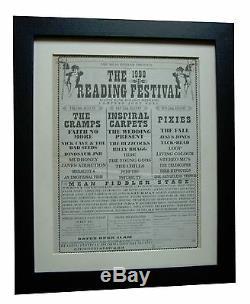 Reading Festival+original 1990+rock+poster+ad+framed+express Global Ship+tickets