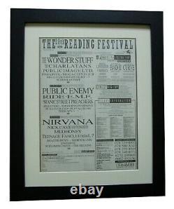 Reading Festival+original 1992+rock+poster+ad+framed+express Global Ship+tickets