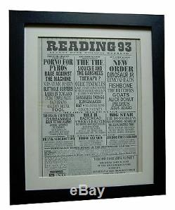 Reading Festival+original 1993+rock+poster+ad+framed+express Global Ship+tickets