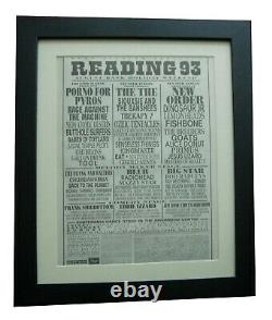 Reading Festival+original 1993+rock+poster+ad+framed+express+global Ship+tickets