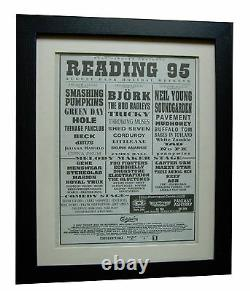 Reading Festival+original 1995+rock+poster+ad+framed+express Global Ship+tickets