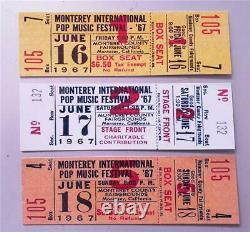 Repro CONCERT TICKET MONTEREY POP MUSIC FESTIVAL 16/17/18 June 1967 California