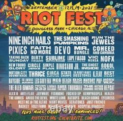 Riot Fest 2021 TWO 3-Day GA Tickets Chicago Music Festival SOLD OUT