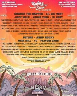 Rolling Loud LA 2019 Music Festival 2 tickets