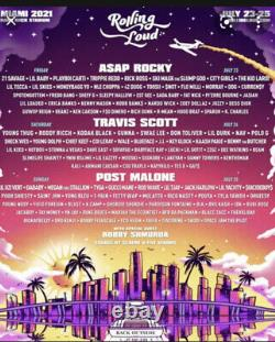 Rolling Loud Miami Music Festival 2021 3-Day Pass GA Tickets FAST SHIPPING