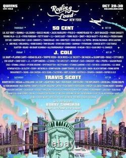 Rolling Loud Music Festival NYC 50 Cent J Cole Travis Scott Citi Field Oct 28-30