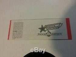 Rush 1984 Texxas Music Festival Ticket Unused Nmint Rare Clean Htf Vtg
