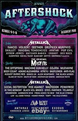 SATURDAY GA Aftershock Music Festival Tickets Wristbands Passes