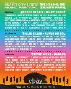 SUNDAY VIP Weekend 1 Tickets Austin City Limits Music Festival Wristband