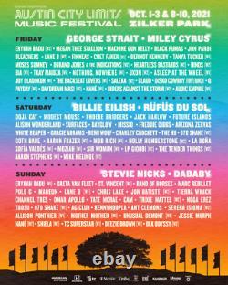 Saturday VIP Weekend 2 Ticket Austin City Limits Music Festival Wristband