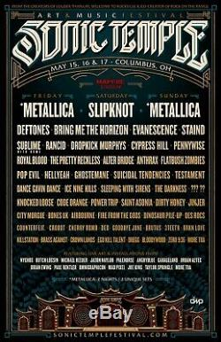 Sonic Temple Art & Music Festival OH TWO 3-Day GA Field Tickets 5/15-17