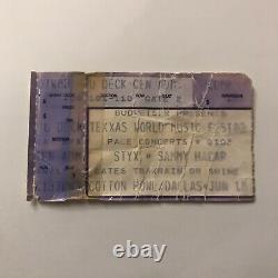 Styx Sammy Hagar Texxas World Music Festival Concert Ticket Stub Vintage 1983