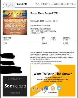 Sunset Music Festival 2-day GA Ticket