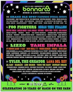 TWO 4 Day GA Tickets Bonaroo Music and Arts Festival 2021. PACKAGE OF 2