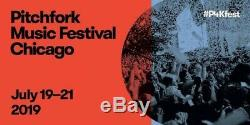TWO Pitchfork Music Festival 3 Day Passes- HAIM ROBYN July 19-21 2019