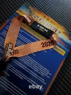 Tampa SUNSET MUSIC FESTIVAL 2-day pass GA. May 29th & 30th 2021 2020 wristband