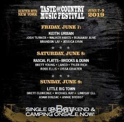 Taste of country Music Festival Tickets (TOC) at Hunter Mountain, NY (2 Tickets)