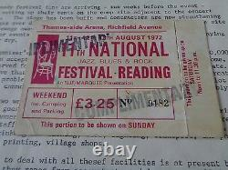 The Faces Etc Reading Festival 1972 Ticket/pass And Marquee Flyer, Quo, Genesis