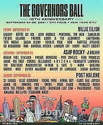 The Governors Ball Music Festival Saturday GA Wristband September 25, 2021
