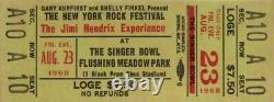 The Jimi Hendrix Experience 1968 New York Rock Festival Unused Ticket / Nm 2 Mnt