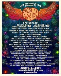 The Peach Music Festival, 1-8 Vip, Box #23 seats, July 1-4 2021