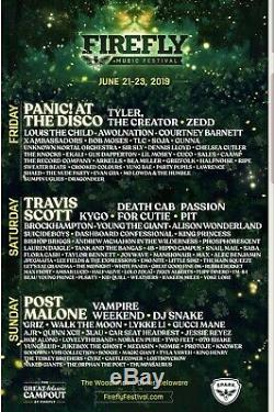 Three Day GA tickets for Firefly Music Festival 6/21/19 6/23/19 2 TICKETS