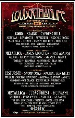 Two 4-DAY GA Tickets Louder Than Life Music Festival 2021 Wristbands