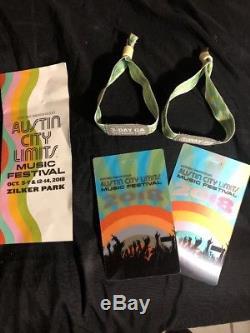 Two Wristbands For 3 Day Music Festival Row GA ($1450.00 original price)