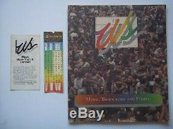 US Festival #1 Program Music Technology People 1982 With Unused Concert Ticket