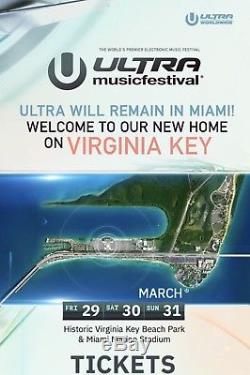 Ultra Music Festival Miami 2019 Tickets GA 3-Day Pass